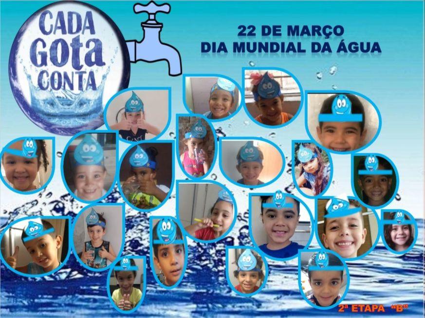Garotada celebra o Dia Mundial da Água