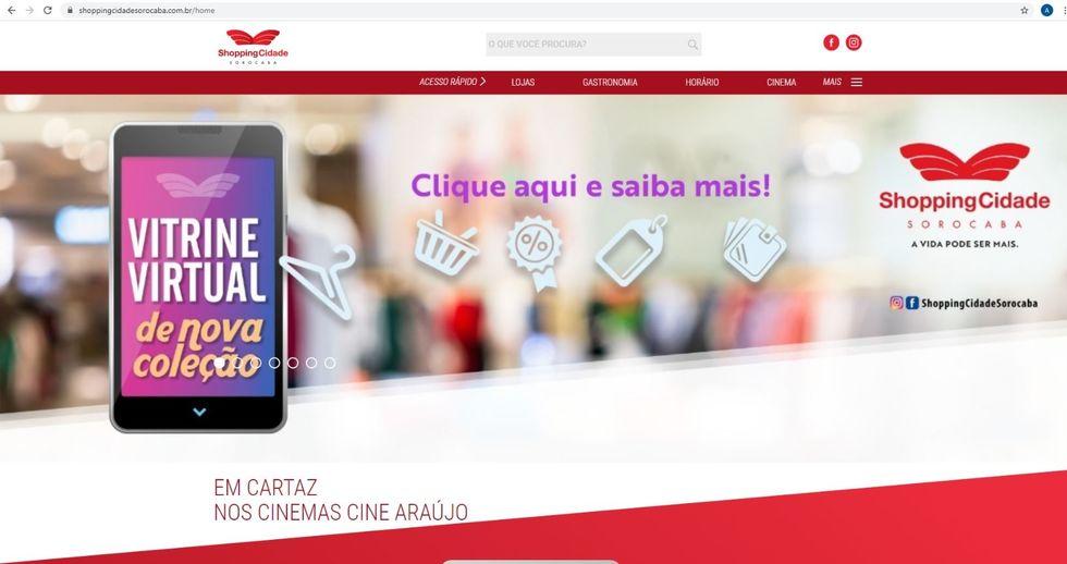 Shopping Cidade Sorocaba cria Vitrine Virtual para consumidores