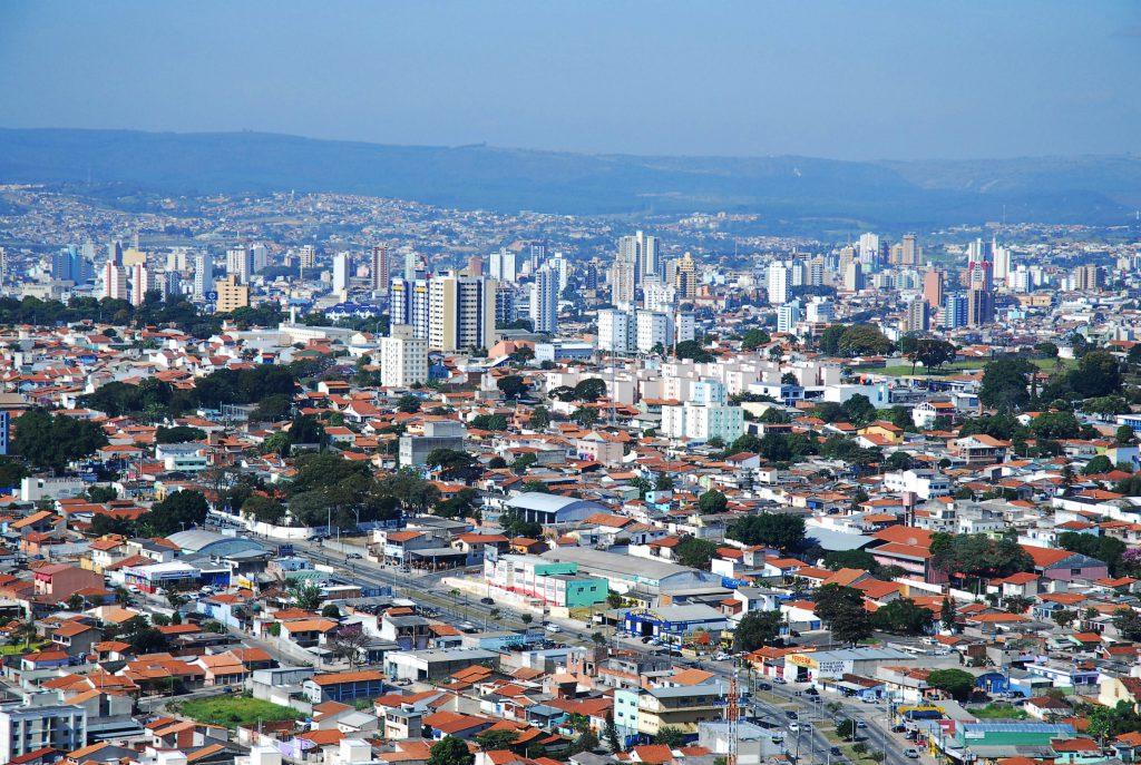 Foto aérea da zona norte de Sorocaba.