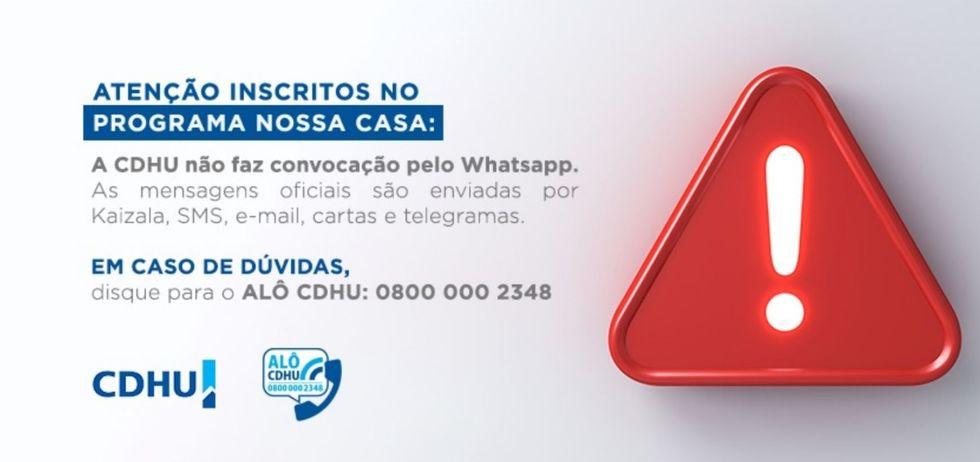CDHU alerta para golpe do boleto via WhatsApp