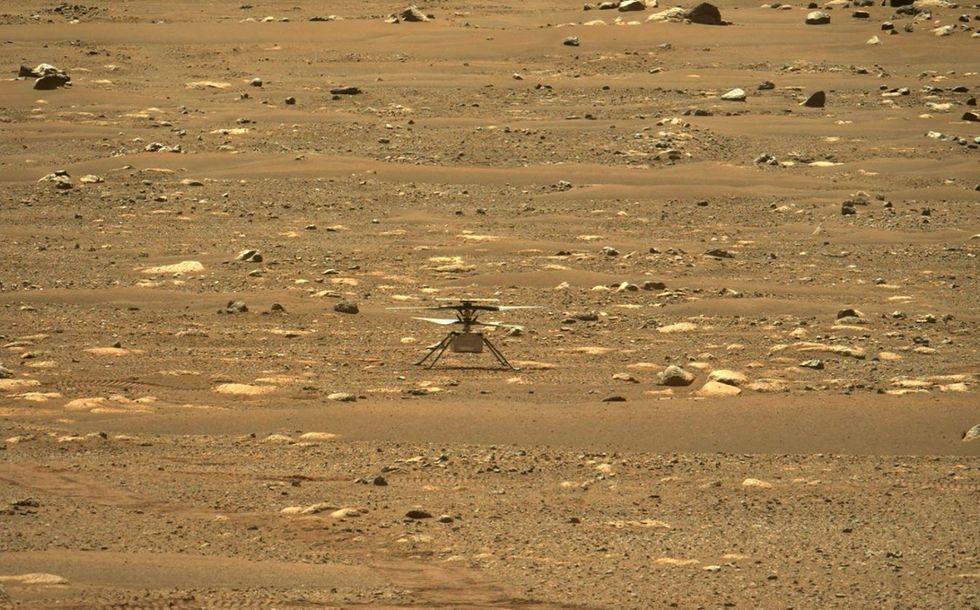 Helicóptero da Nasa faz voo histórico em Marte