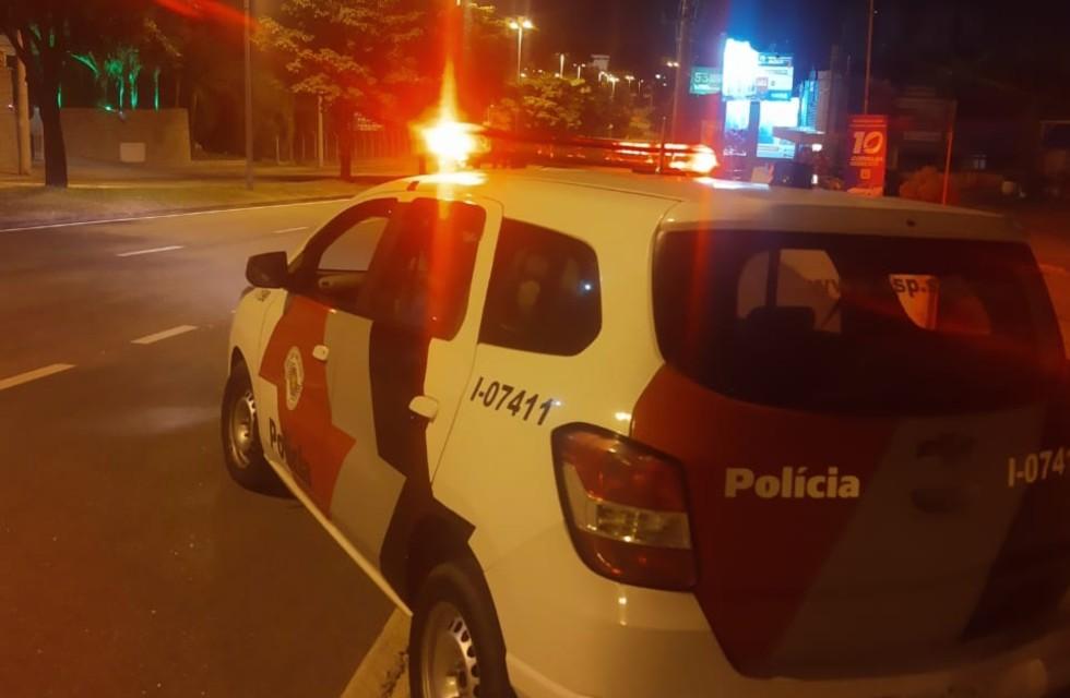 Viatura da Polícia Militar durante operação Paz e Proteção. Crédito da Foto: Divulgação / PM