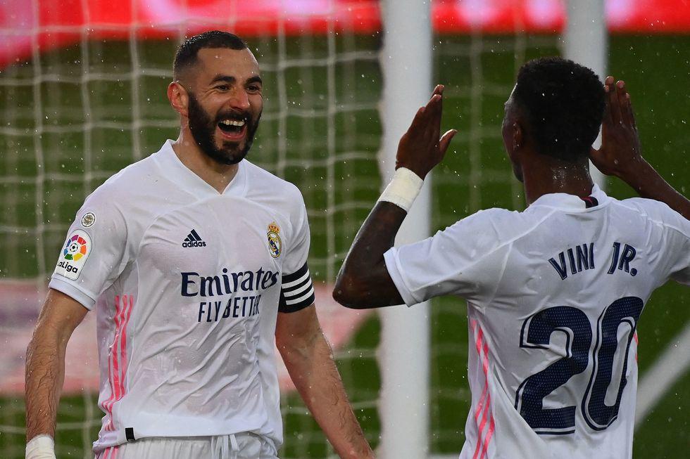 Karim Benzema e Vinicius Junior.